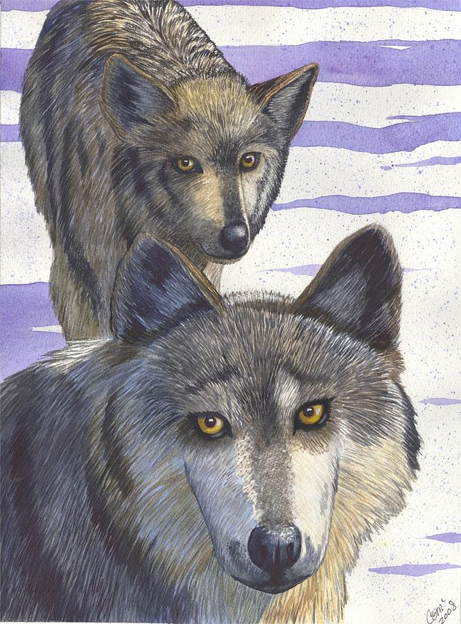 Wolf Painting - Woofies by Catherine G McElroy