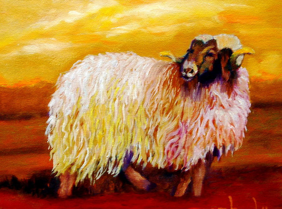 Woolly Painting by Marie Hamby