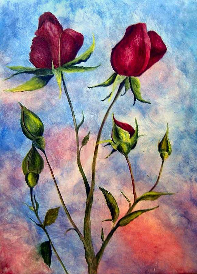Rose Painting - Woop Woop Rose by JoLyn Holladay