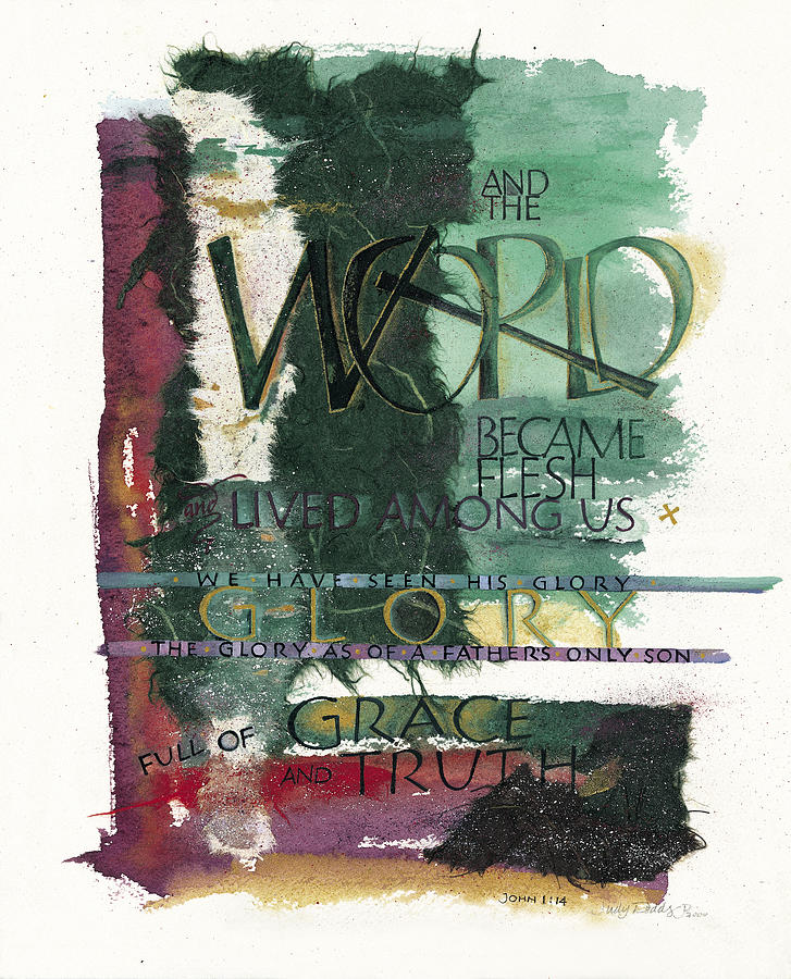 Advent Painting - Word by Judy Dodds