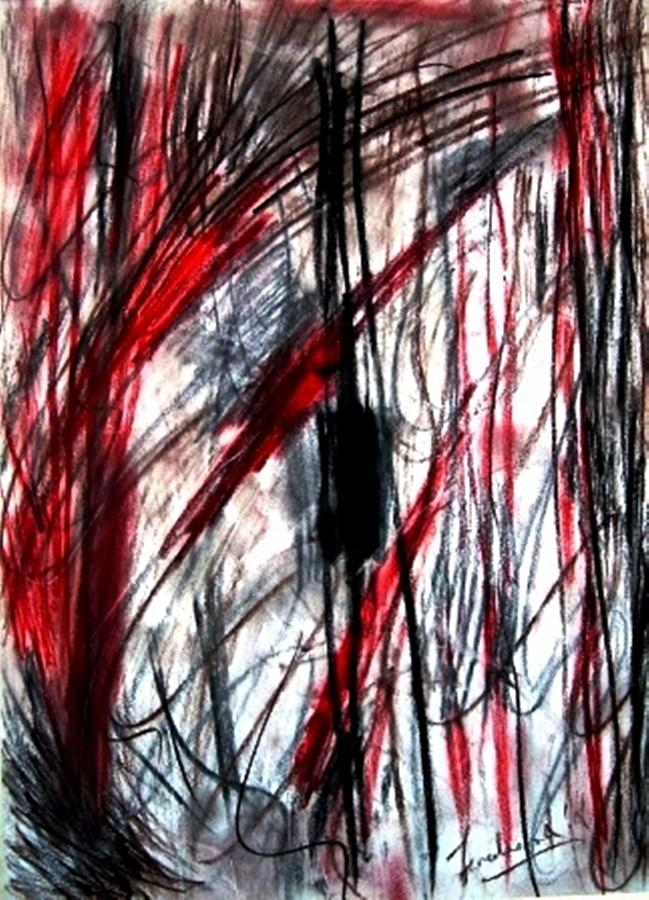Abstract Drawing - Words by Fareeha Khawaja