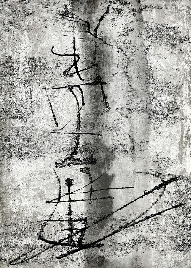 Grey Photograph - Words On The Wall by Carol Leigh