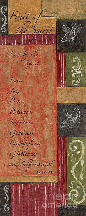 Words To Live By, Fruit Of The Spirit Painting