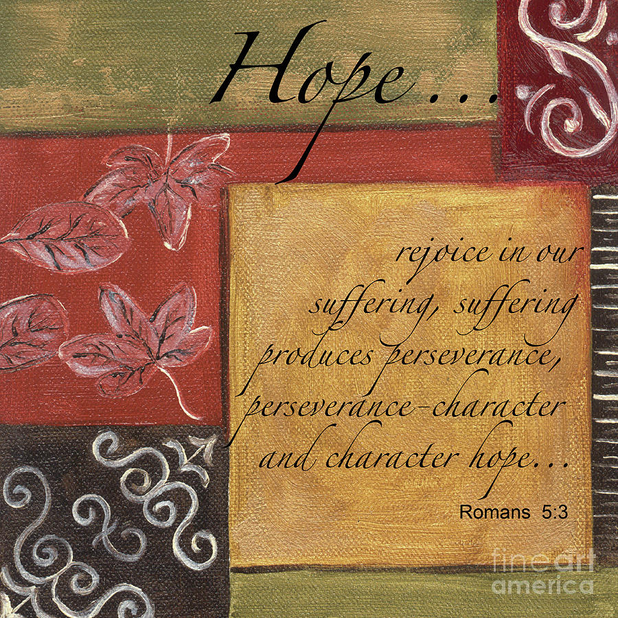 Hope Painting - Words To Live By Hope by Debbie DeWitt