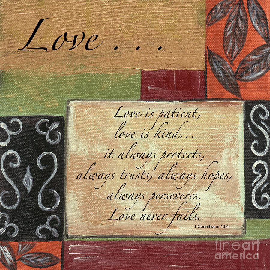 Love Painting - Words To Live By Love by Debbie DeWitt