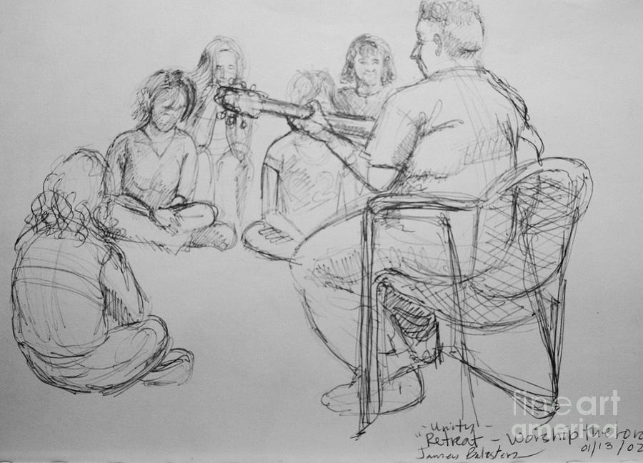 Worship Drawing - Worhsip The Lord by Jamey Balester
