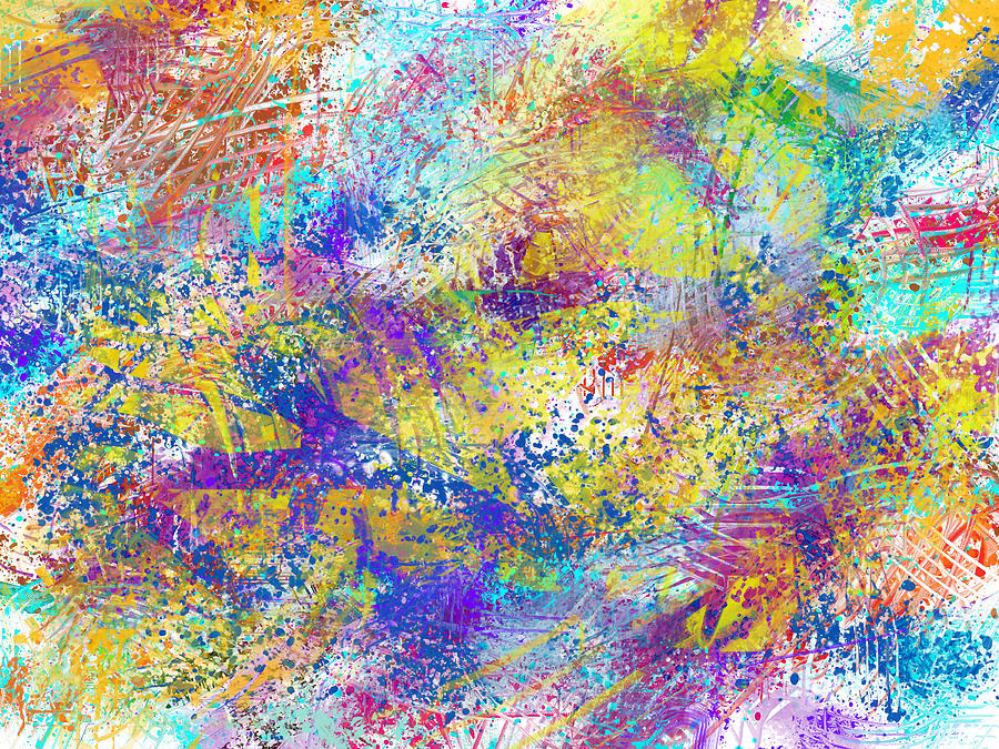 Digital Painting - Work 00101 Abstraction by Alex Hall