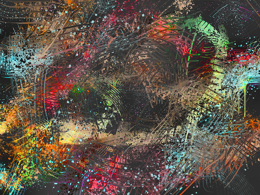 Digital Painting - Work 00101 Abstraction Variant 2 by Alex Hall