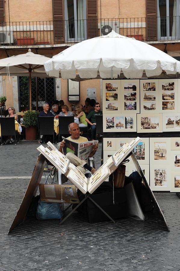 WORK BREAK, ROME, 2011 by John Jacquemain