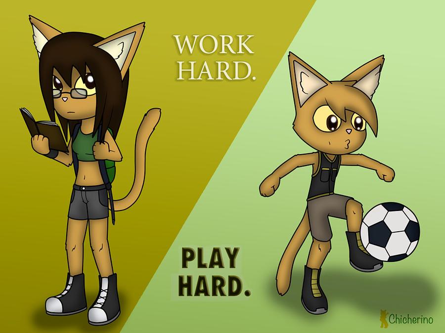 Work Hard. Play Hard. by Jayson Halberstadt
