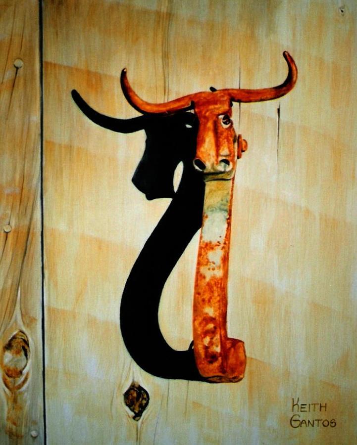 Door Knocker Painting - Work of Farr by Keith Gantos