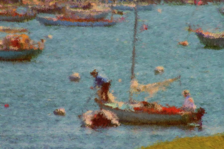 Sail Boats Painting - Work These Sails Honey Boothbay Harbor Maine by Viktor Arsenov