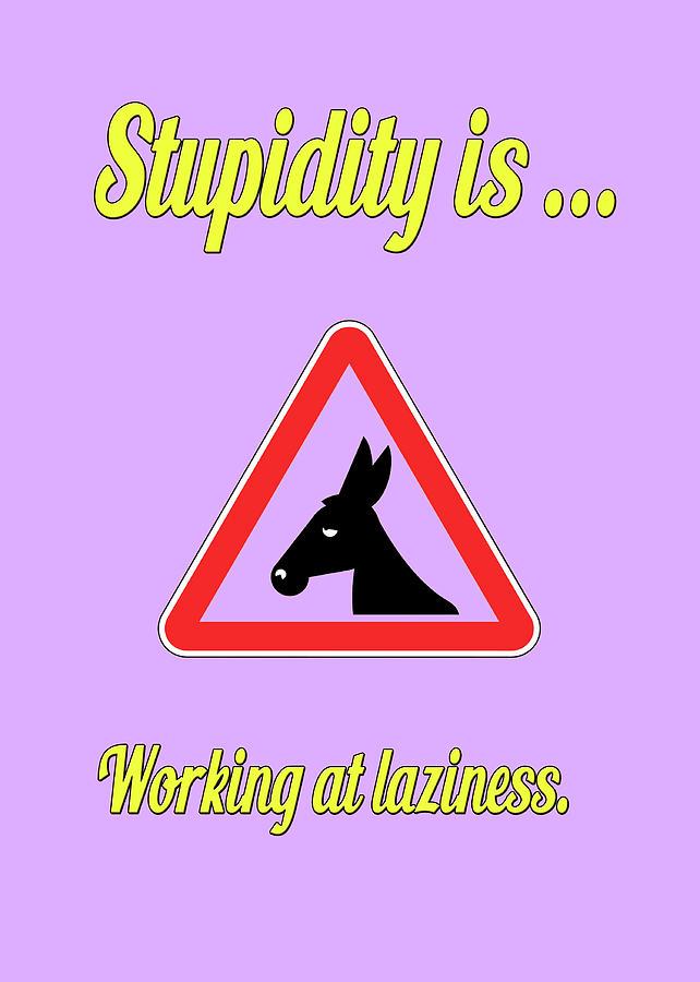 Funny Digital Art - Working Bigstock Donkey 171252860 by Mitchell Watrous