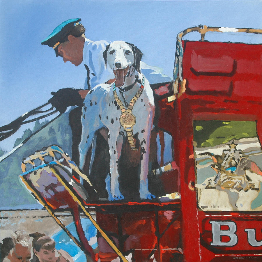 Dog Painting - Working Dog by Robert Bissett