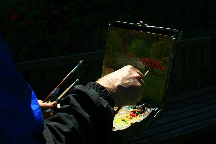 Plein Air Photograph - Working From Nature by Terry Perham