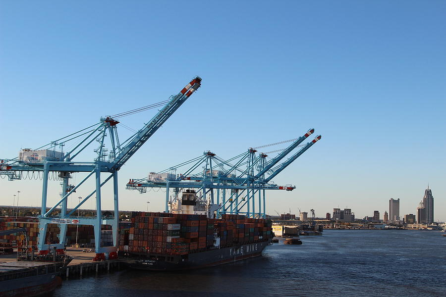 Working The Port Of New Orleans Photograph by Robert Smith
