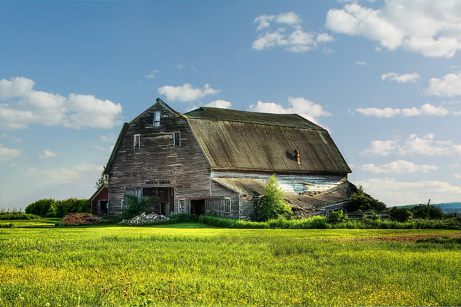 Barn Photograph - Working This Old Barn by Gary Smith