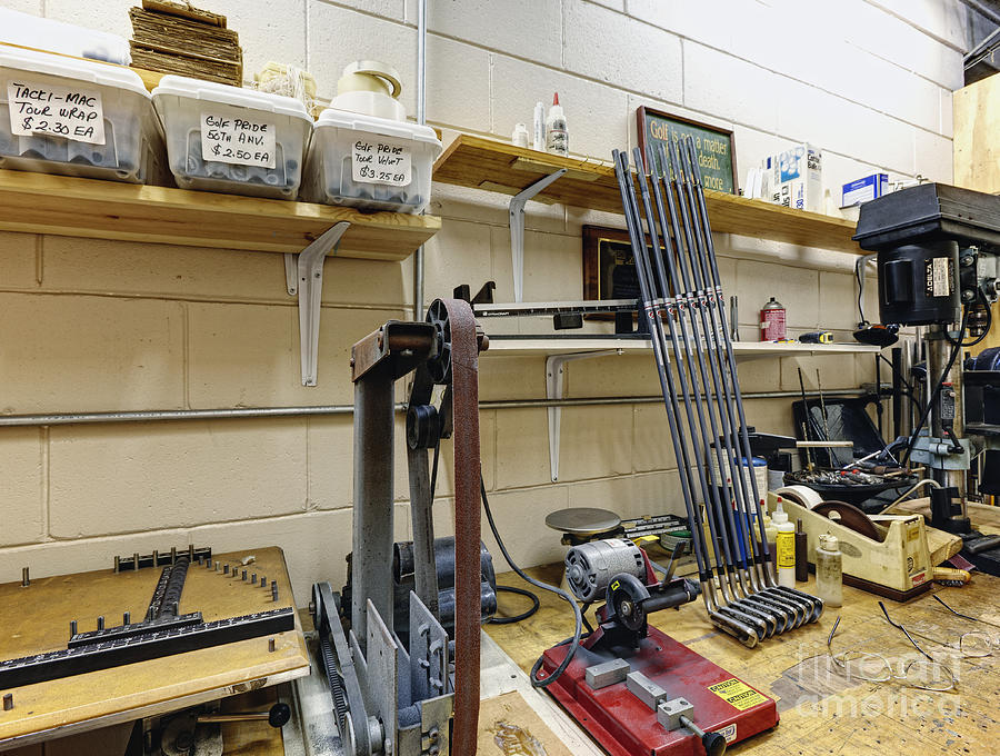 Bins Photograph - Workshop For Manufacturing Golf Clubs by Skip Nall