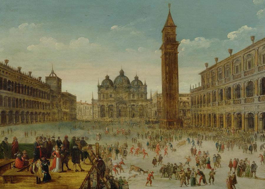 Nature Painting - Workshop Of Caullery, Louis De Caulery Circa 1580 - 1621 Antwerp Carnival In Venice. by Artistic Rifki