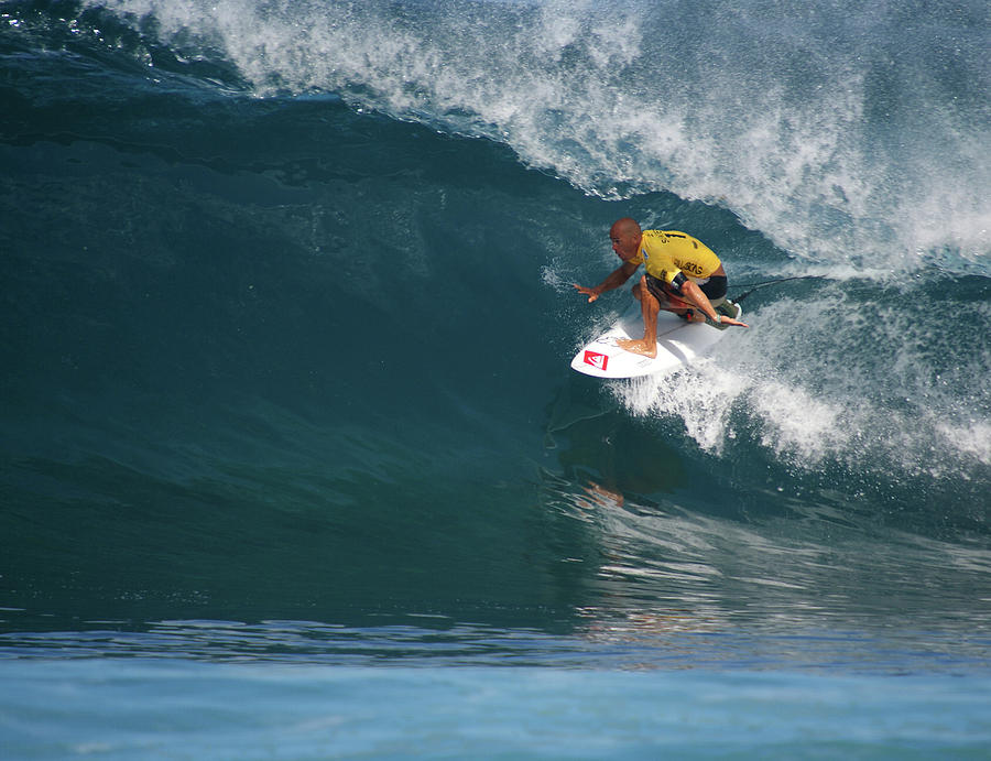 Kelly Slater Photograph - World Champion In Action by Kevin Smith
