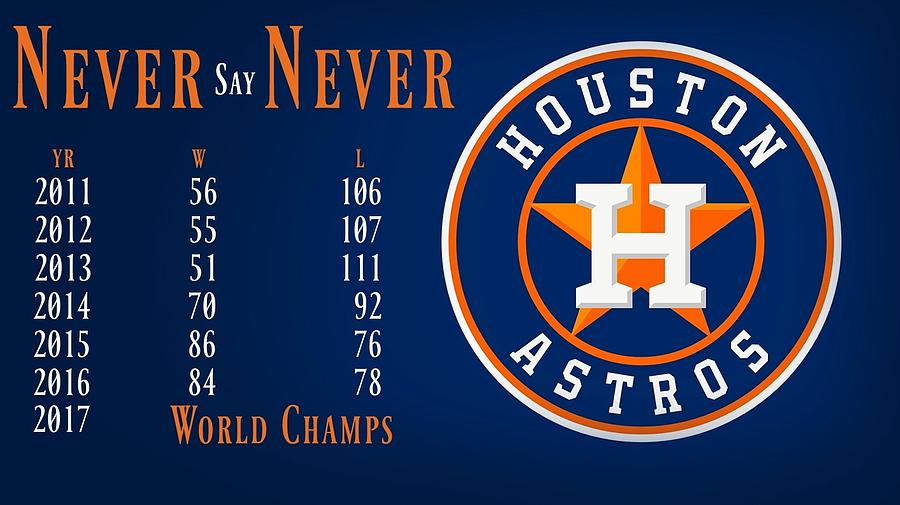 Houston Astros Photograph - World Champs 2017 by David Norman