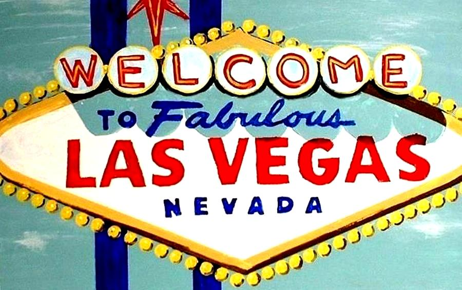 Las Vegas Painting - World Famous Las Vegas Sign Daytime by Teo Alfonso