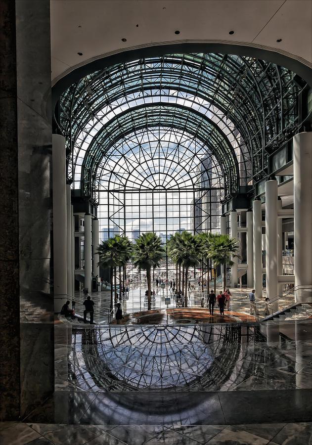 Glass Architecture Photograph - World Financial Center Nyc by Robert Ullmann