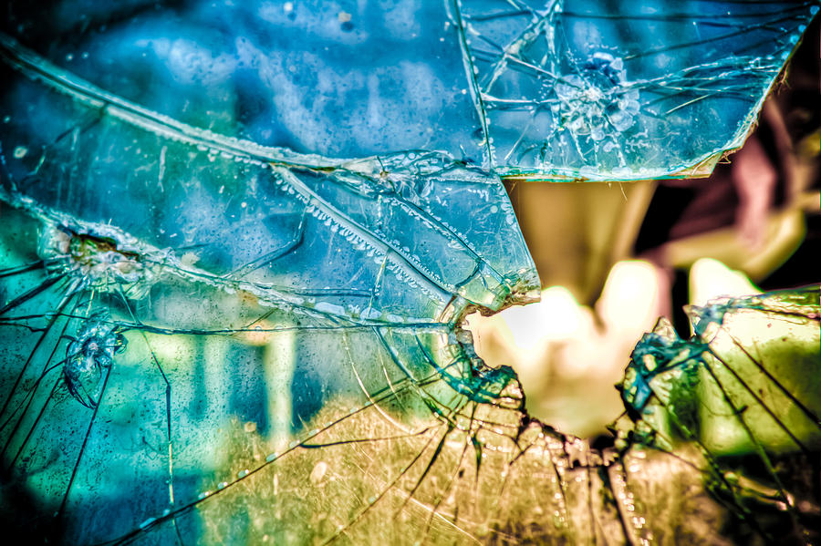 Broken Window Photograph - World In My Eyes by TC Morgan
