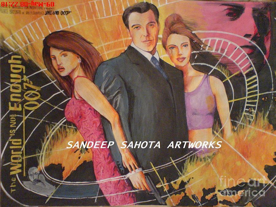 Army Painting - World Is Not Enough by Sandeep Kumar Sahota
