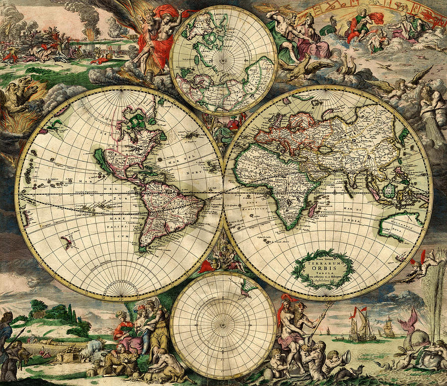 World Map 1690 Photograph