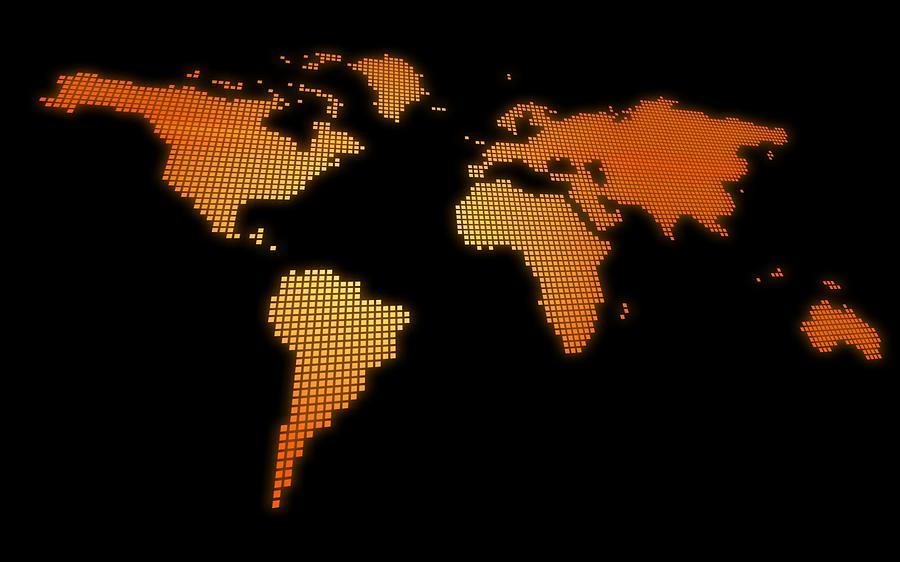 World Map Digital Art - World Map by Dorothy Binder