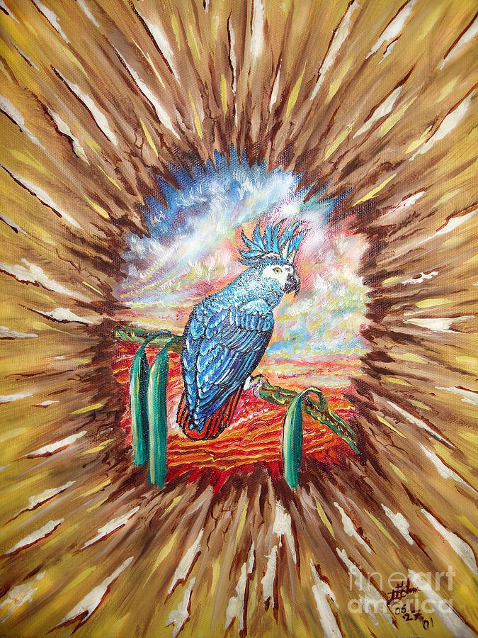 Parrot Painting - World Nearby by Vyacheslav Dohuzya