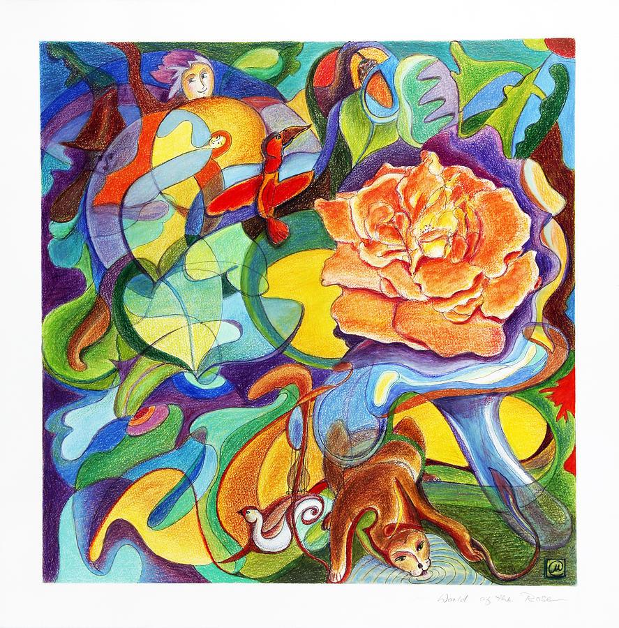 Rose Painting - World Of The Rose by Monika Kretschmar