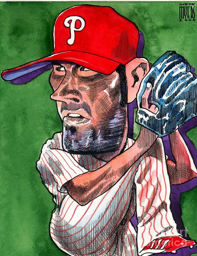 Phillies Painting - World Series Mvp by Robert  Myers
