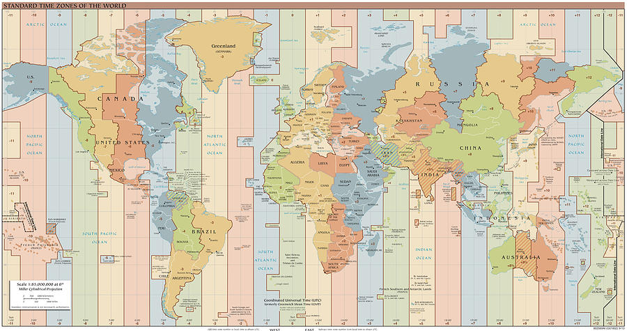 World time zone map drawing by cartographyassociates world map drawing world time zone map by cartographyassociates gumiabroncs Gallery