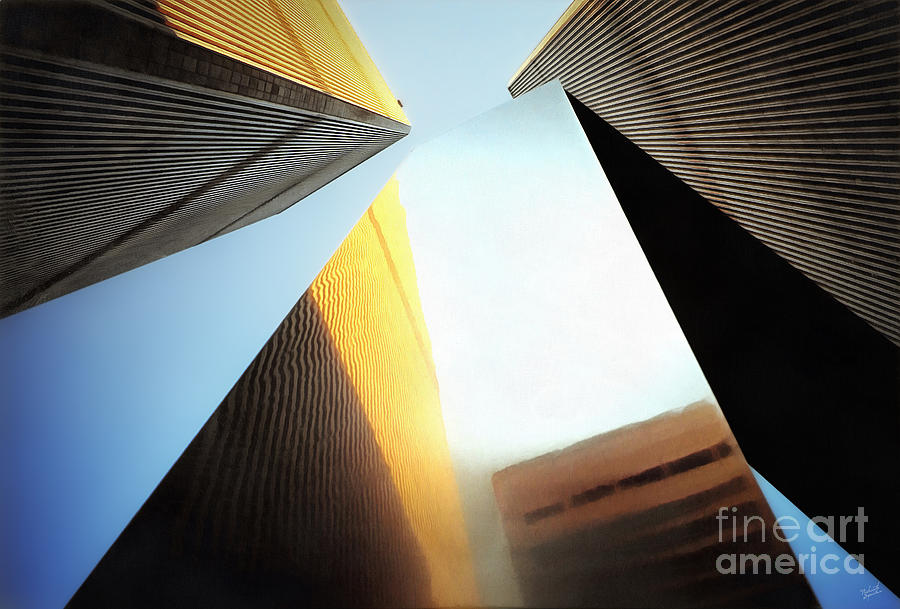 Wtc Photograph - World Trade Center Towers And The Ideogram 1971-2001 by Nishanth Gopinathan