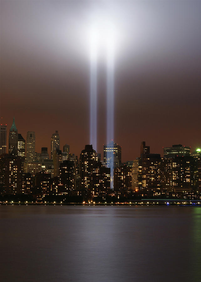 Vertical Photograph - World Trade Center Tribute In Light by Greg Adams Photography