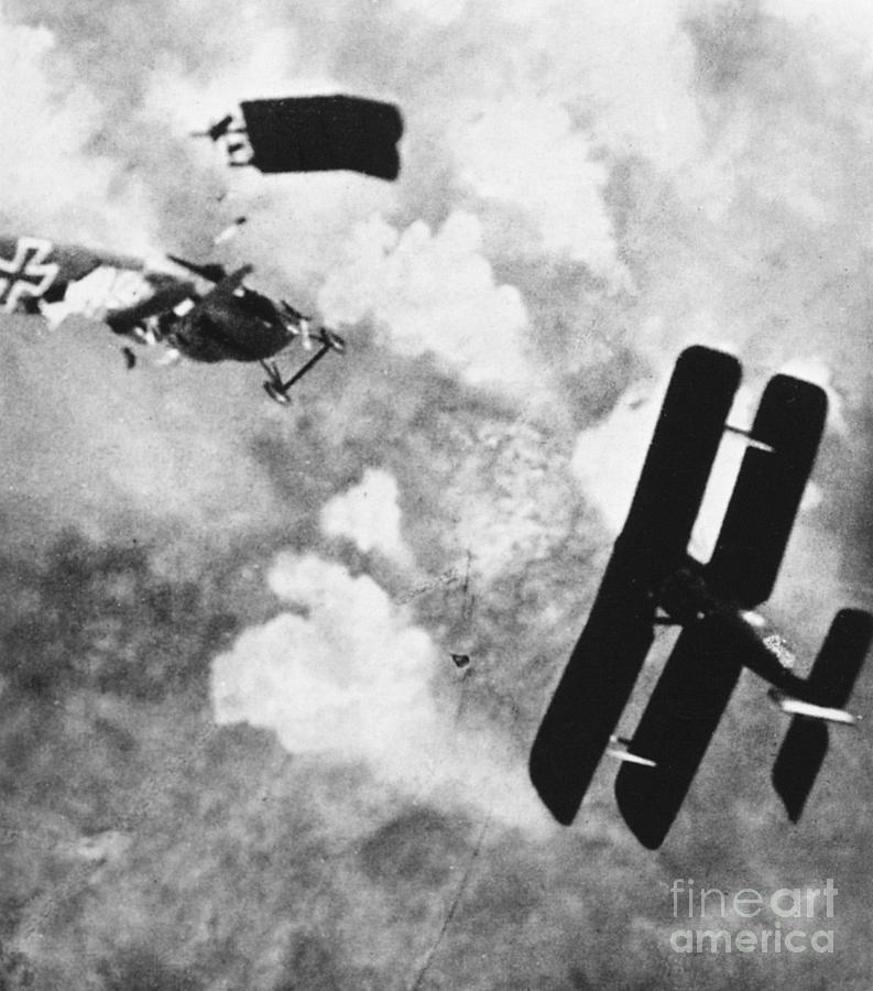 1914 Photograph - World War I: Aerial Combat by Granger