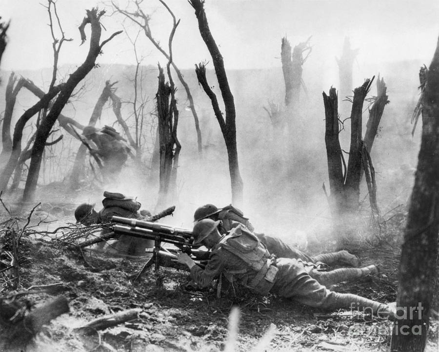 1918 Photograph - World War I: Battlefield by Granger