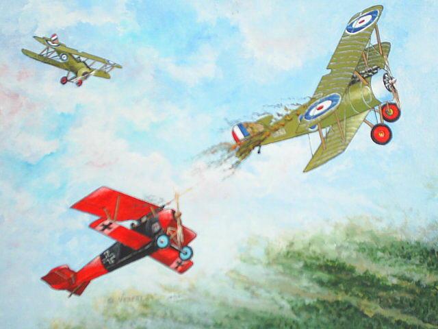 Aviation Painting - World War I by Dennis Vebert