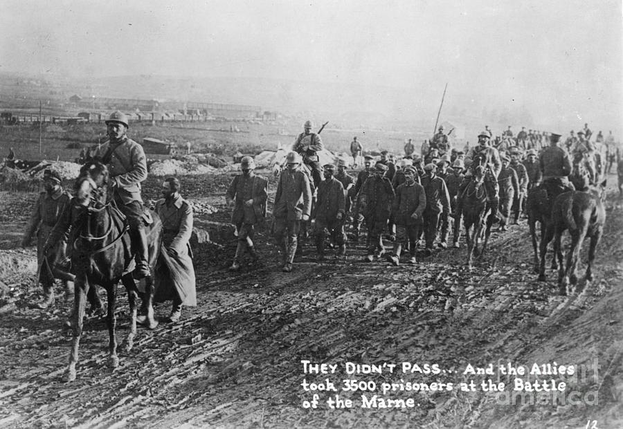 1918 Photograph - World War I: German Pows by Granger