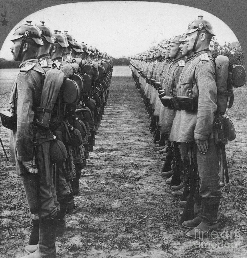 1914 Photograph - World War I: German Troop by Granger