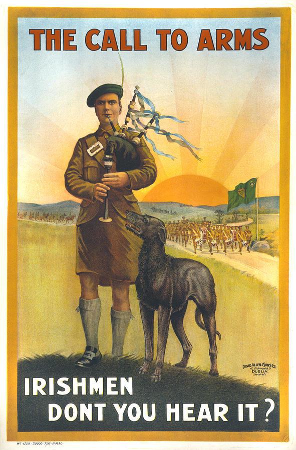1910s Photograph - World War I, Irish Military Recruitment by Everett