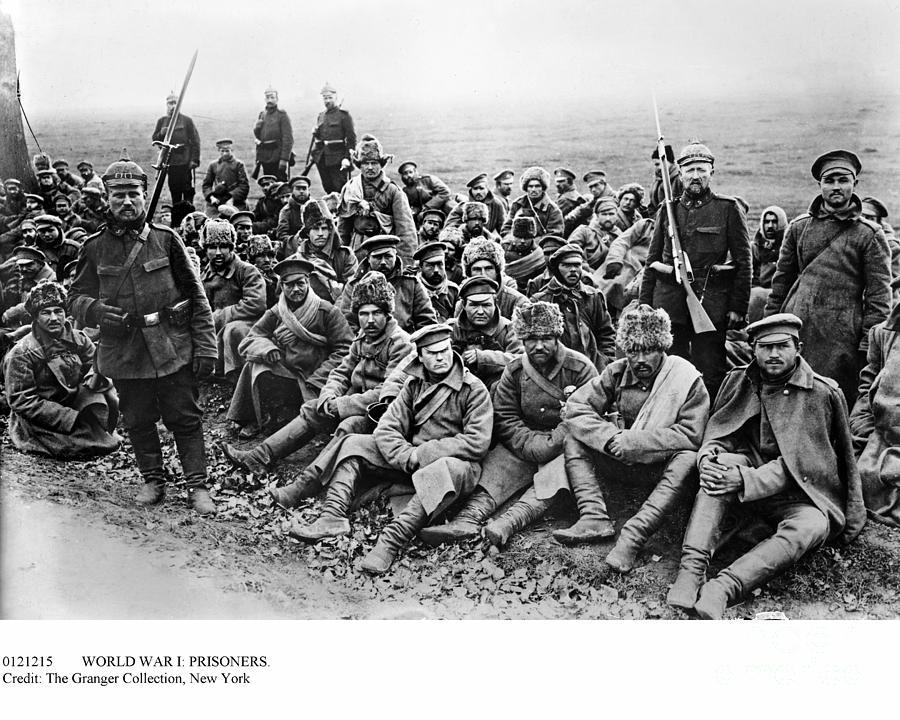 1914 Photograph - World War I: Prisoners by Granger