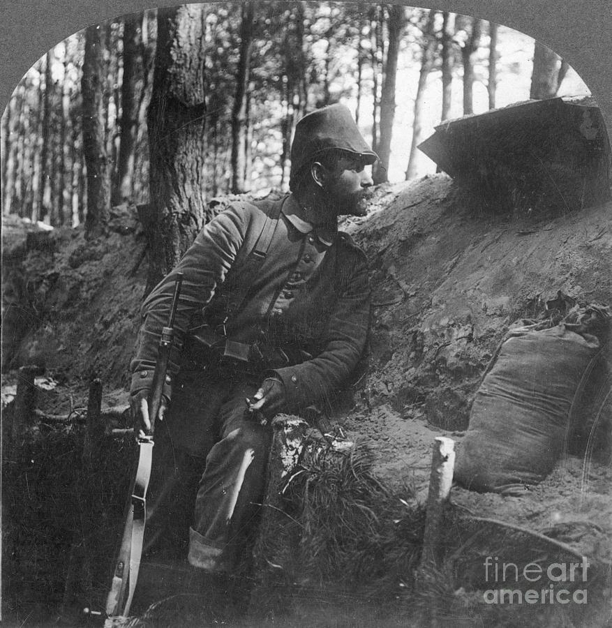 1916 Photograph - World War I: Soldier by Granger