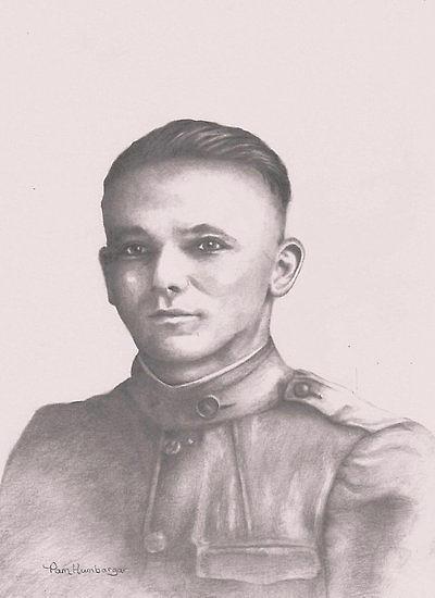 Drawings Drawing - World War I Soldier by Pamela Humbargar
