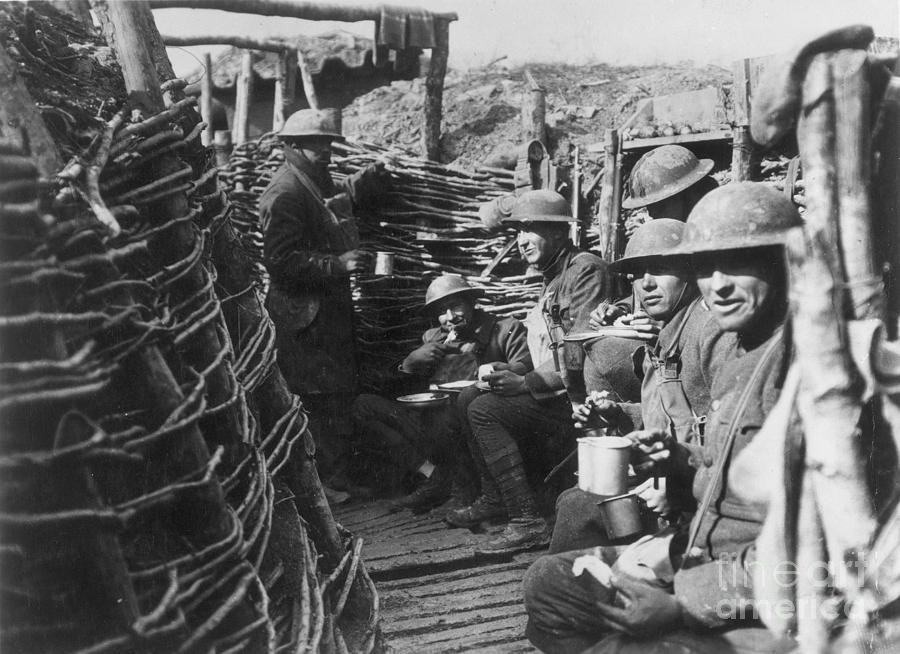 1918 Photograph - World War I: U.s. Troops by Granger