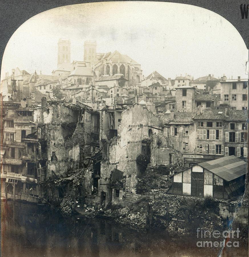 1919 Photograph - World War I: Verdun Ruins by Granger