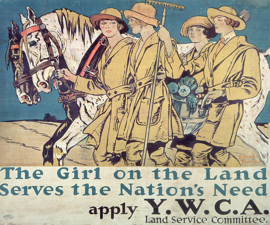 Vintage Poster Painting - World War I Ywca Poster  by Edward Penfield