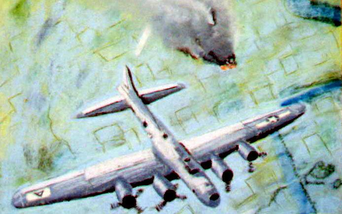 Pastel Painting - World War II Bombing Raid by Stan Hamilton